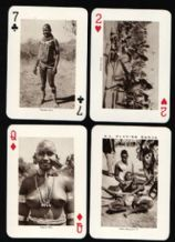 playing cards East Africa souvenir circa 1950's